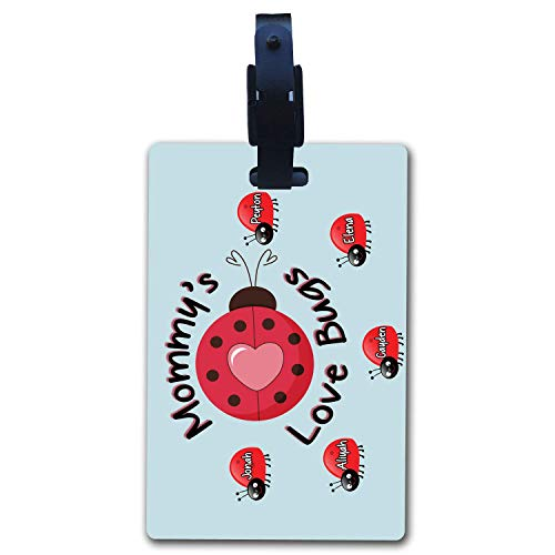 BRGiftShop Personalize Your Own Custom Name Mommy's Lovebugs Pretty Ladybug Luggage Tag
