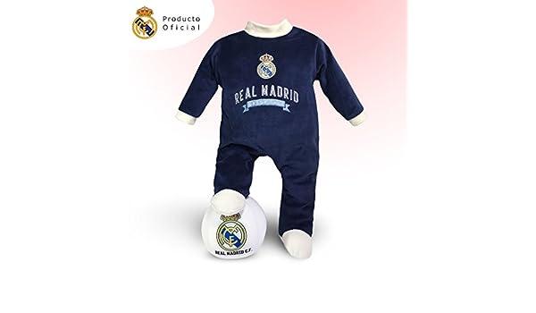 Traje bebé Real Madrid + Balón peluche del equipo: Amazon.es ...