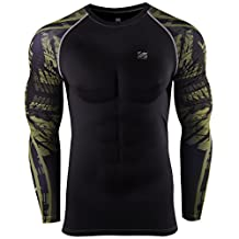 Zipravs Compression Shirts For Men Long Sleeve Crossfit Jiu Jitsu Base Layer