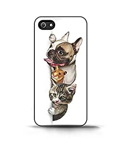Apple Iphone 4/4s Case - Funny Pet Group Sign Vertical Dog Mouse and Cat