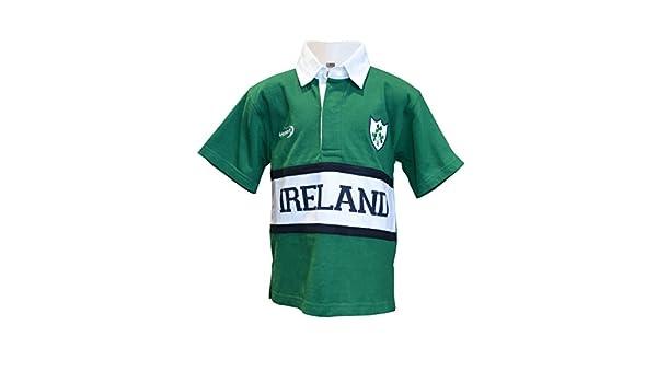Camisa de rugby irlandés para niños, disponible en tallas de 6-12 ...