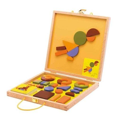 Djeco / Geo Savanne Magnetic Wooden Shapes Set, Baby & Kids Zone