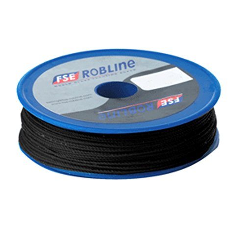 (FSE Robline Waxed Tackle Yarn Whipping Twine - Black - 0.8mm x 80M Marine , Boating Equipment)