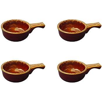 Amazon Com Onion Soup Crock With Handle Stoneware