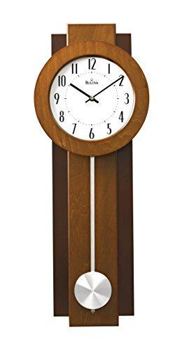 Bulova Avent Pendulum Deco Wall Clock, 18u0026quot;, ...
