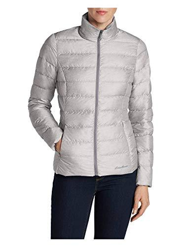 (Eddie Bauer Women's CirrusLite Down Jacket, Lt Gray Regular XL)