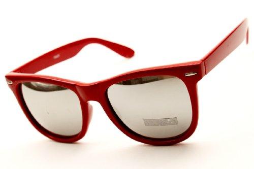 Retro Unisex Sunglasses Retro Classic Mirror Lens (Red/Mirrored, - New Sunglasses Kim Kardashian