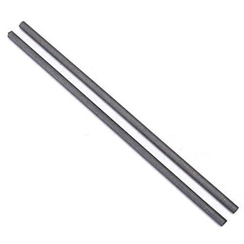 Hitommy 2Pcs 300X8Mm Graphite Electrode Bar Carbon Stirring Rod - Graphite Steel Rod