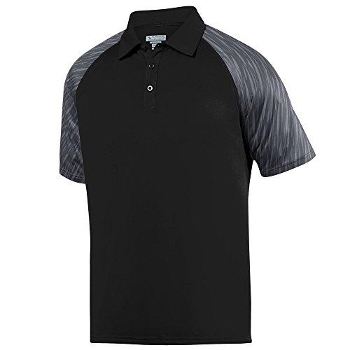 Augusta Sportswear Men's Breaker Sport Shirt 3XL Black/Slate (Augusta Golf)