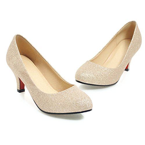 Hauts Or de Escarpins UH Talons Chaussures pour Mariage Paillettes à de Femmes Femmes Avec qOwAI