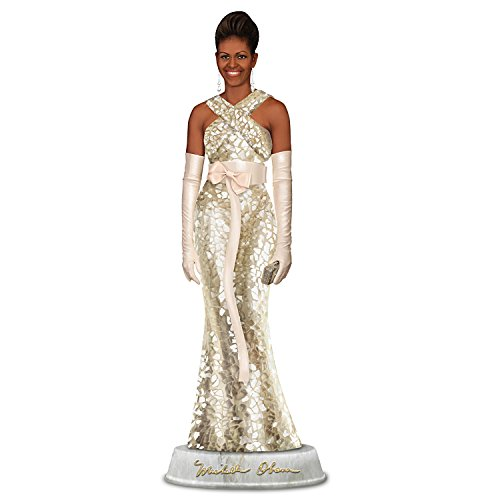 The Bradford Exchange Michelle Obama Campaign Elegance Glass Mosaic Sculpture