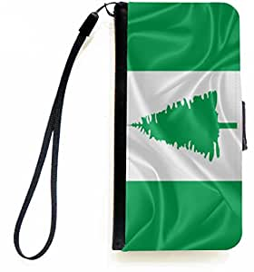 Rikki Knight™ Norfolk Island Flag PU Leather Wallet Type Flip Case with Magnetic Flap and Wristlet for Apple iPhone 5 &5s