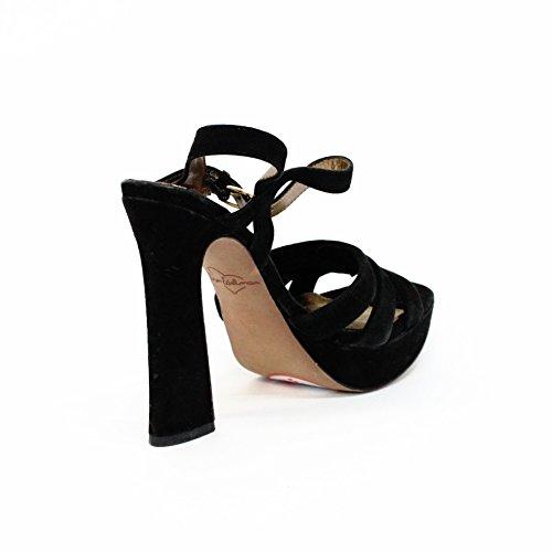 Sam en el talón Edelman bloque de ante y pedrería para mujer, estándar del Reino Unido 3,5 RRP £125 negro - negro