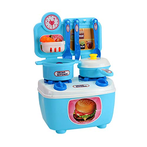 Children's Mini Kitchen Play House Puzzle Toy Birthday Present Educational Toy by OVERMAL Toy