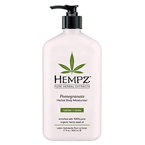Hempz Vitamins (Hempz Pomegranate Herbal Body Moisturizer Lotion 17 oz by Supre (Pomegranate Scented))