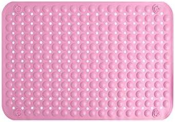 100個の吸引カップ、抗菌、防カビ、BPAフリー、すべての一般サイズの浴槽にフィットする特大耐久性滑り止めクリアPPスクエアシャワーマット