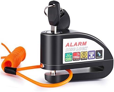 150cm Alarm Disc Security Lock Anti Thief Bag Motorcycle Wheel Disc Brake and Spring Reminder Orange Cable