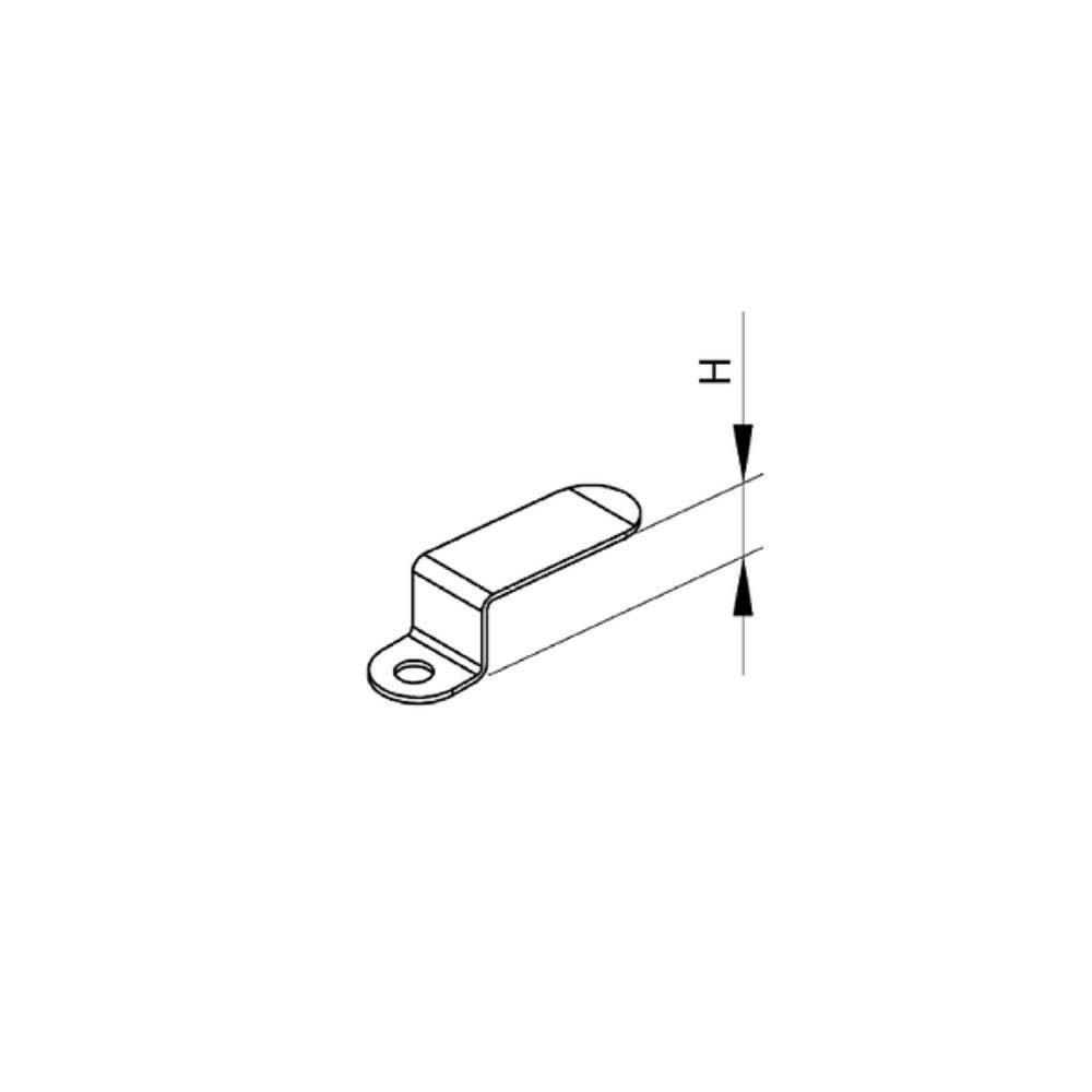 Einh/ängewinkel f/ür Fliegengitter 15mm 6 St/ück Montagewinkel