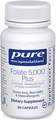 Pure Encapsulations – Folate 5,000 Plus – Activated Folate, Vitamin B12 and B6 Combination – 60 Capsules For Sale