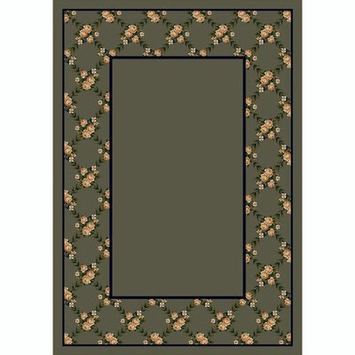 Design Center Rose Bower Sage Rug Rug Size: 7'8