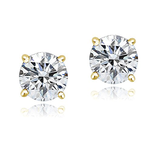 gold-tone-over-sterling-silver-100-facets-cubic-zirconia-solitaire-stud-earrings-3cttw