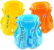 LAVIANA Kids Float Suit Vest Swim Jackets Swim Vest Toddlers with Adjustable Safety Strap Age Boys Girls Float