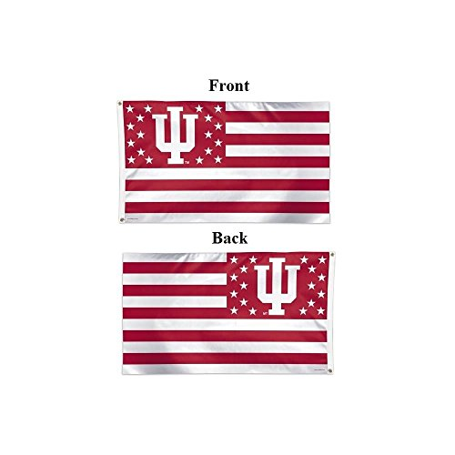 - WinCraft NCAA Indiana University 16189215 Deluxe Flag, 3' x 5'