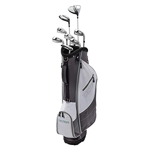 Wilson Ultra Womens Right Handed Complete Golf Club Set with Cart Bag, Gray/Mint