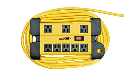 ot Long Surge Protector 8-Outlet Heavy Duty Metal Mountable 1050 Joules Protection Extension Cord Power Strip with Cord Management, 15 Foot Long Extension Cord, UL Listed ()