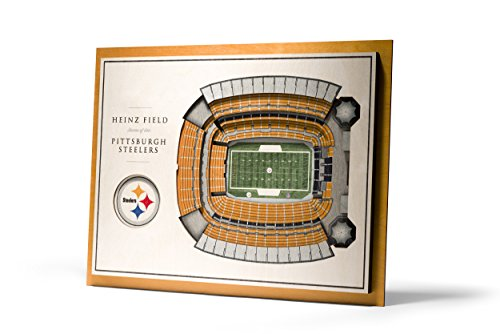 YouTheFan NFL Pittsburgh Steelers 5-Layer StadiumView 3D Wall - Art Nfl