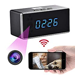 YCTONG WIFI Alarm Clock Hidden Spy Camera HD 1080P Wireless Clock Cameras Night Vision Surveillance Camcorder Mini Video Recorder Motion Detection Best Nanny Cam for Home Security