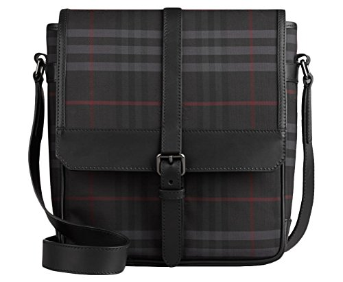 Burberry Bryett Horseferry Check and Leather Crossbody Bag (One Size, (Burberry Mens Bag)