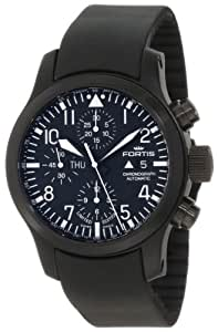 Fortis Men's 656.18.81K B-42 Flieger Automatic Chronograph Black Dial Watch
