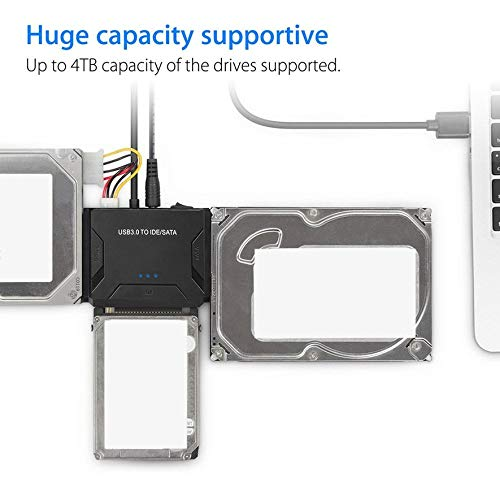 8Eninide USB 3.0 to IDE/SATA Converter External Hard Drive Adapter ...