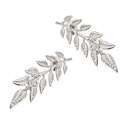 1 Pair Elegant Gold Wheat Leaf Suit Clip Collar Pin Brooch for Unisex