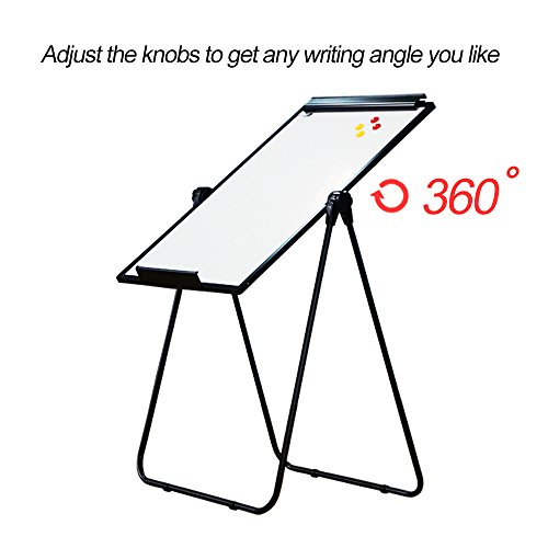 XIWODE Magnetic Easel-style Dry Erase Board, Flip Chart Black U-Stand Whiteboard, 36 x 24 Inch,Aluminum Framed, with Metal Clips and Eraser, Foldable White Board for School, Home, Office by XIWODE (Image #2)