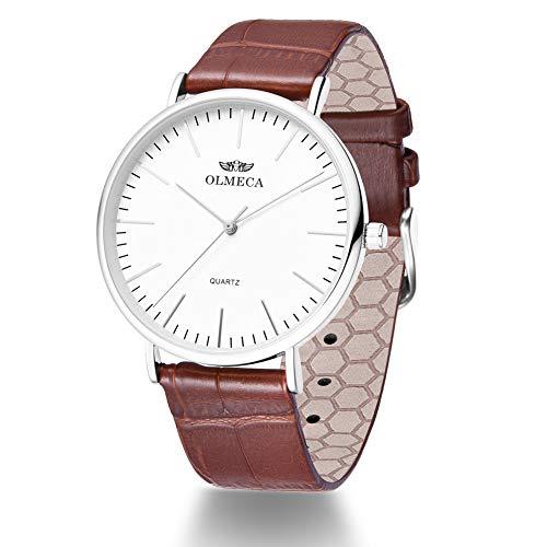 OLMECA Men's Luxury Watch Fashion Analog Quartz Watches Stainless Steel Chronograph Women Watch Waterproof Wrist Watch for Men 9188MSF0015