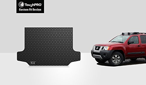 - ToughPRO Cargo/Trunk Mat Compatible with Nissan Xterra - All Weather - Heavy Duty - (Made in USA) - Black Rubber - 2008, 2009, 2010, 2011, 2012, 2013, 2014, 2015