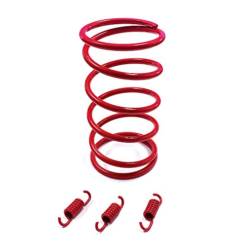 MYK Chinese Scooter High Performance Racing Torque and Clutch Shoe Springs SET GY6 50cc-100cc also fits 139QMB and 1P39QMB Engines Scooter Moped ATV (2000RPM, RED) (Racing Spring Clutch)