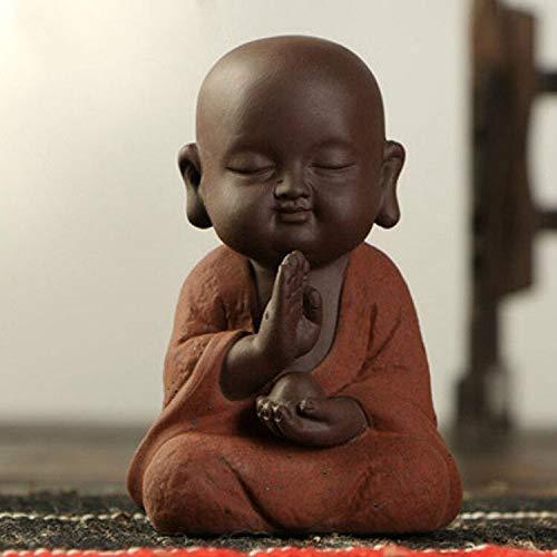 Amazon.com: Viet JK Others - Las estatuas de Buda pequeño monje Color Arena de cerámica Club geomántica decoración púrpura Arena figuras mascota té 1 PCs: ...