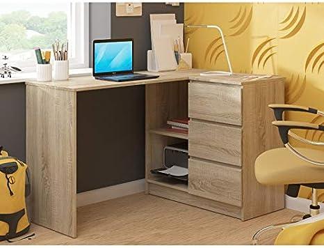Herby Schreibtisch Eckschreibtisch Stilo Kinderschreibtisch Computertisch Jugend wei/ß Sonoma Erle Wenge 25 Wenge, Links