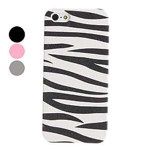 Zebra-Stripe Pattern Hard Case for iPhone 5/5S (Assorted Colors) --- COLOR:Black