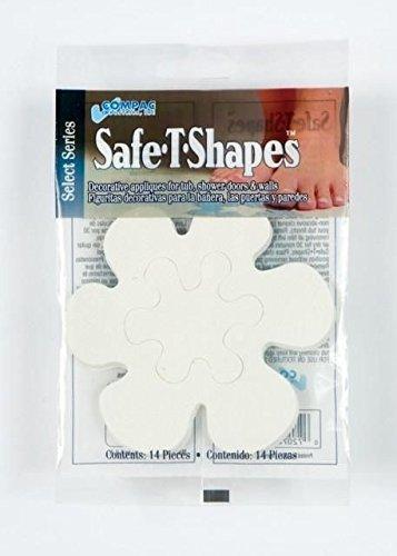 (White Daisies) Safe-t Shapes Non-slip Bath Tub/shower Appliques by Nonslip Appliques