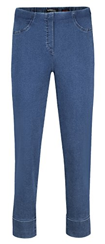 Robell Bella JEANS Denim Power Stretch Schlupfhosen Stretchhosen (36, mittelblau)