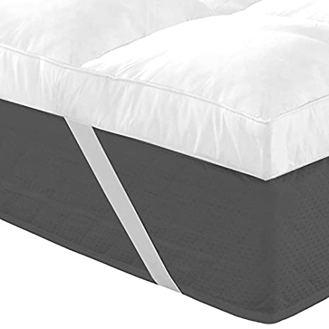 idmarket - Manta 140 x 190 cm ultra-confort 10 cm plumas de ganso: Amazon.es: Hogar