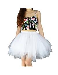 YSJ Women's Tutu Tulle Mini A-Line Petticoat Prom Party Skirt Fun Skirts