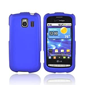 BLUE For LG Vortex Rubberized Hard Plastic Cover Case