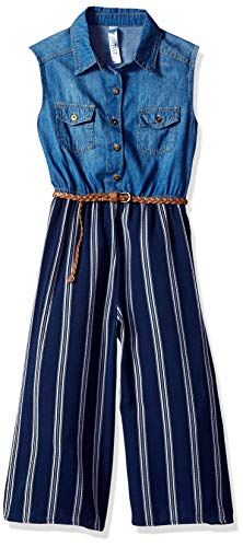 Beautees Girls' Big Jumpsuit, Navy 8