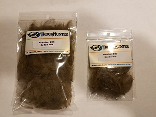 Trouthunter Premium Dyed Cdc   3 5G   Caddis Dun   Fly Tying