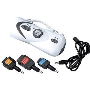 充電対応ラジオ付き手回し充電LED懐中電灯